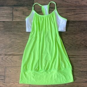 Size 8 Lululemon Neon Green No Limits Tank